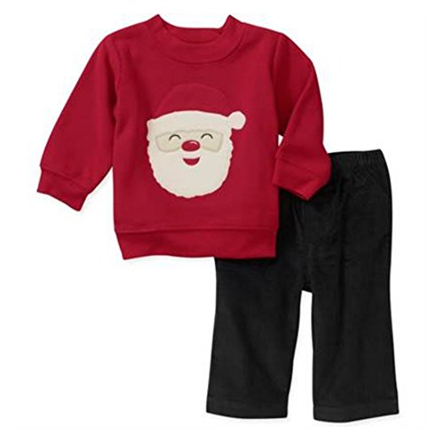 Carters Infant Boys Santa Claus Outfit Christmas Sweatshirt & Pants Set