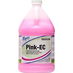 Nyco Products NL384-G4 Pink Velvet Lotionized Dishwash, 1-Gallon Bottle (Case of 4)