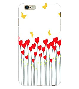 ColourCraft Butterfly Hearts Back Case Cover for APPLE IPHONE 6S PLUS