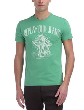 Replay M3030 - T-Shirt - Homme - Vert (Bright Green) - S