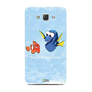 Hamee Disney Pixar Finding Dory Official Licensed Cover Hard Back Case for Samsung Galaxy J5 - 6 / J5 2016 Edition (Dory Marlin / There's Always A Way)