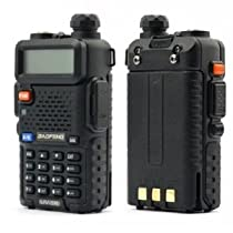 Baofeng Uv-5r Ham two way radio Dual Band U/V Radio 136-174/400-480Mhz Transceiver + Free Earphone mic.