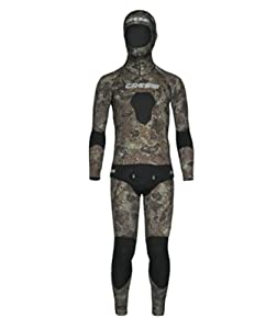 Buy 7mm Cressi Sub Mens 2 Piece FreeDiving Spear Fishing Camo Tecnica Wetsuit by Cressi