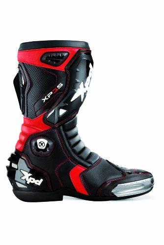 XPD - Stivali da Moto XP3-S, Nero/Rosso, 40