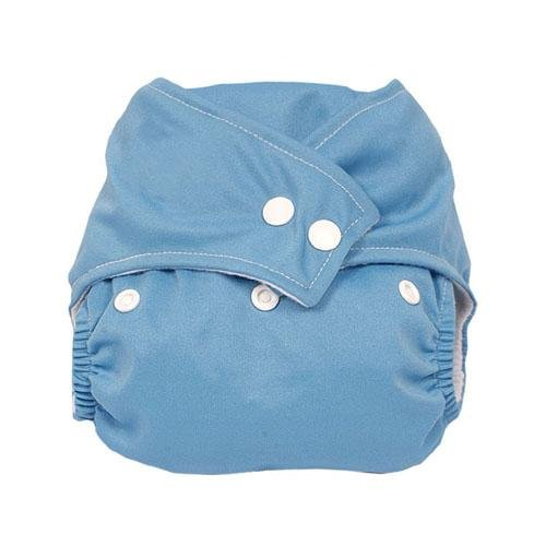 niceEshop(TM) Press button adjustment washable leak-proof baby cloth diapers blue