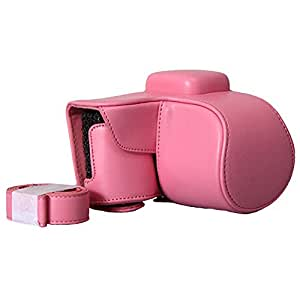 Win8Fong Protective Case Bag Cover Protector for Samsung NX1000 Camera / 20-50mm Lens / Pink / With Strap / Durable