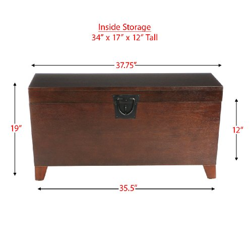 SEI Espresso Pyramid Trunk Cocktail Table