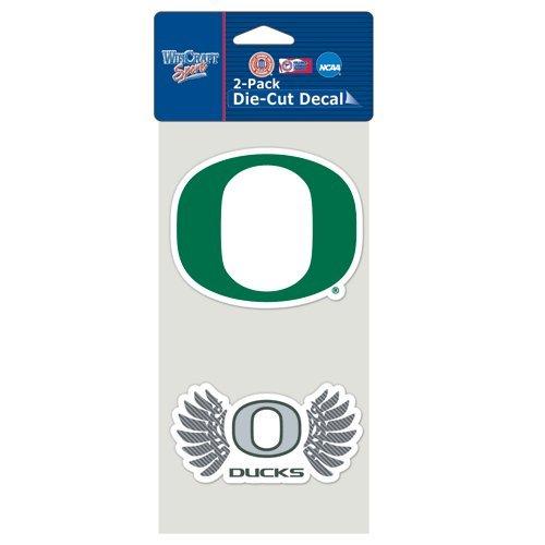 Oregon Ducks Official Ncaa 4 Inch X 4 Inch Each Die Cut Car Decal 2-Pack
