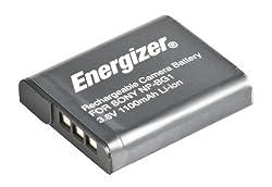 Energizer ENB-SBG Digital Replacement Battery NP-BG1 for Sony DSC- T20 W80 W55 W150 W220 and W290 (Black)