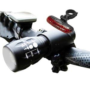 SAVFY® Q5 7W Cree LED Zoom Fahrradlicht Komplet Set