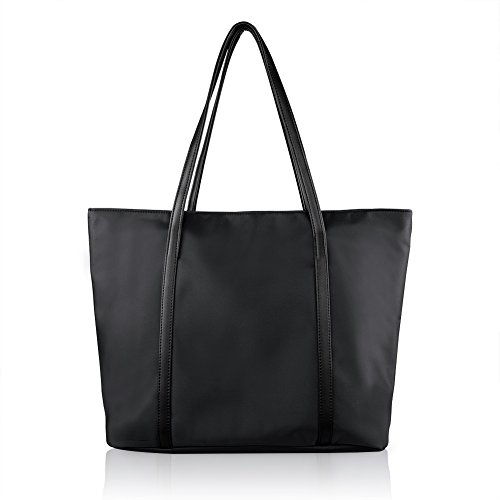 Wonder Youth Women Large Fashion Totes Shoulder Bag Waterproof Tote Handbags - Black (Black Jelly Bags Handbags compare prices)