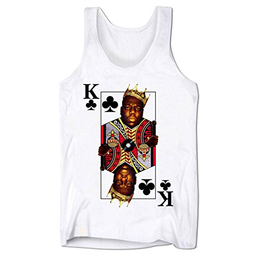 Bang Tidy Clothing Men'S Biggie Smalls King Of Clubs Low Cut Vest White Xl