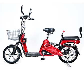 Motor Electric Bicycle x 2Adult Seats+pedal+battery 20 Mile (Model: Class2) Red