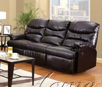 ACME 50930 Arcadia Motion Sofa, Espresso Bonded Leather