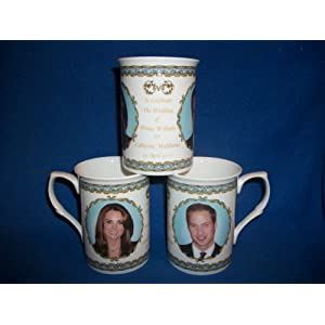 Prince William and Kate Middleton Bone China Wedding Mug