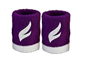 Buy Fangcan Terry Elastic Wristband for Basketball and Tennis Sports Pack of 2 (Purple) by FANGCAN