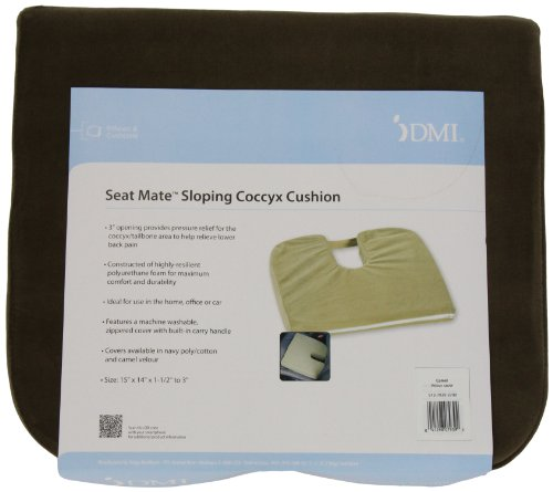 Mabis Dmi Healthcare Sloping Coccyx Cushion, Camel front-573572