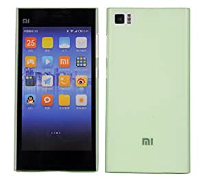 YMK Xiaomi Mi3 Cover, Hard (Semi Transparent) Slim Matte Shell Case for Xiaomi Mi3 (Green)