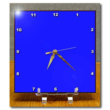 Dc_163465_1 Florene Solid Colors - Image Of Bright Blue Electric Hue - Desk Clocks - 6X6 Desk Clock