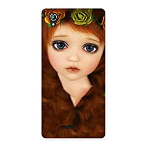 Enticing Tini Doll Multicolor Back Case Cover for Lava Iris 800