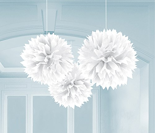 3 pompoms xxl papier blumen 40cm weiss ean 0048419968030. Black Bedroom Furniture Sets. Home Design Ideas