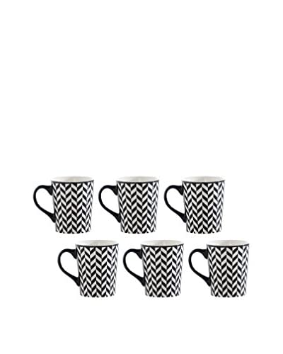 Shiraleah Set of 6 Black SoHo 16-Oz. Mugs