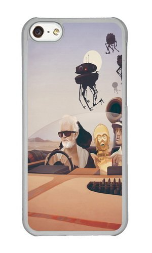 Apple Iphone 5C Case,WENJORS Cute Fear and Loathing on Tatooine Hard Case Protective Shell Cell Phone Cover For Apple Iphone 5C - PC Transparent