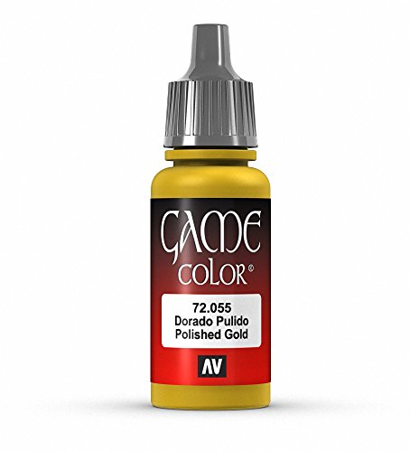 Vallejo Game Color Polished Gold Paint, 17ml