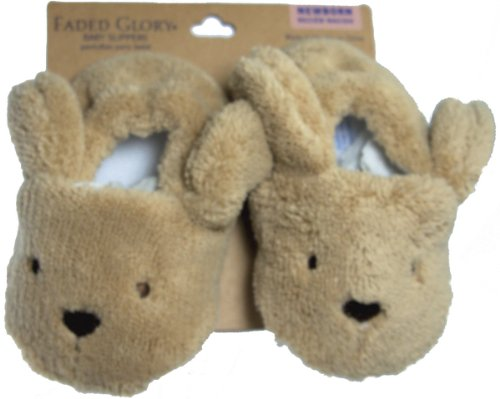 Faded Glory Baby Boy Newborn Slippers front-218711