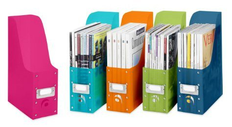 Whitmor Magazine Organizers, Set of 5, Multicolor