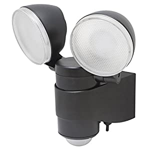 43218 Battery-Powered Dual Head LED Spotlight, Black