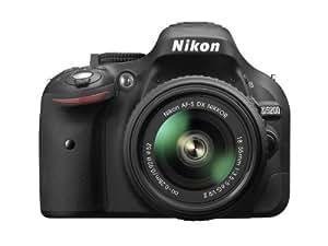 Nikon D5200 Appareil photo numérique Réflex 24,2 Mpix Kit Boîtier + Objectif 18-55 Mm DX VR II Noir