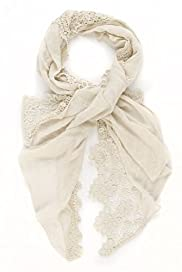 Lightweight Floral Lace Scarf