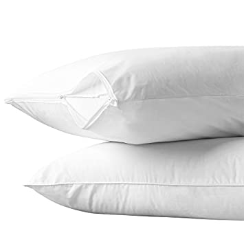 Aller-Ease 100% Cotton Breathable Allergy Pillow Encasement, Set of 2, Standard