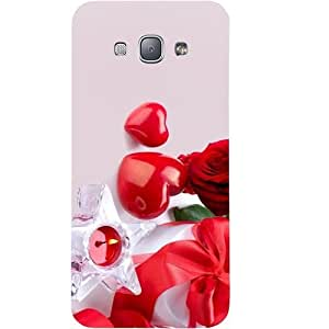 Casotec Valentines Day Gift Candle Heart Couple Rose Design Hard Back Case Cover for Samsung Galaxy A8