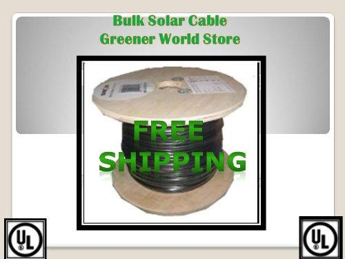 50 Feet Bulk Solar Cable 12 Awg