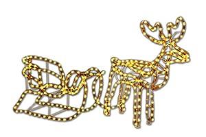 rentier mit schlitten beleuchtet lichterkette figur weihnachtsbeleuchtung xmas 140 cm. Black Bedroom Furniture Sets. Home Design Ideas