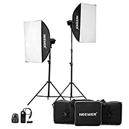 Neewer® 1200W(600W x 2)Professional Photography Studio Strobe Flash Light Monolight Lighting Kit for Portrait Photography,Studio and Video Shoots( MT-600)