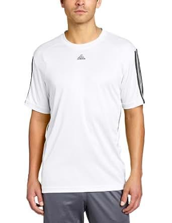 adidas Men's Climacore Short Sleeve Top, White/Black, XX-Large