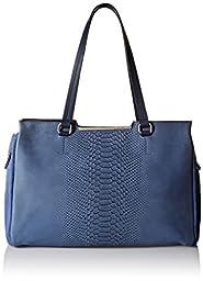 Vince Camuto Belle Satchel Shoulder Bag, Blue Indigo, One Size