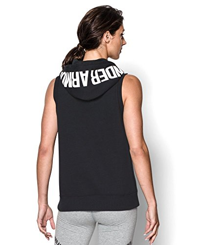 Under Armour Women's UA Favorite Fleece Hoodie Vest Small Black