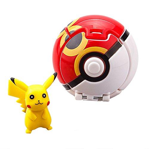 [Pokemon Throw N Pop Poke Ball 2 Inch Action Figure With Pikachu Poke Ball Gift] (Snorlax Costume Diy)
