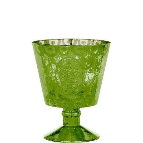 """BUTLERS POMP Teelichthalter """"Krone"""" grün"""