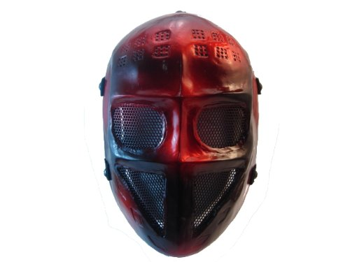 Army Of Two Style Red And Black Airsoft Mask