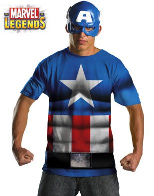 Captain America Alternative Without Scars Costume