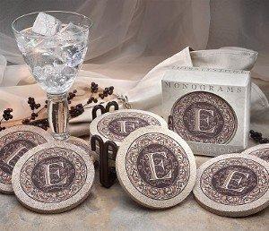 "Thirstystone Monogram K"" Sandstone Coaster Set Of 4″"