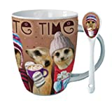 Winter Warmers Chocolate Time Meerkats Hot Chocolate Mug Set
