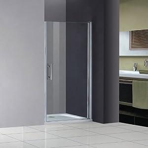 90x185cm Duschabtrennung EchtGlas Duche Schwingtür Duschtür Nischentür Duschwand   Überprüfung und weitere Informationen