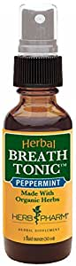 Herb Pharm Certified Organic Peppermint Herbal Breath Tonic Spray - 1 Ounce