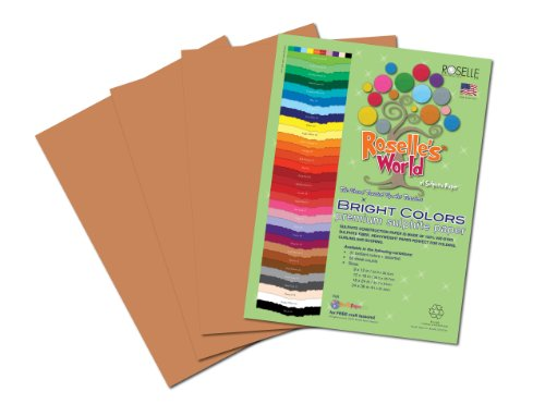 Roselle Bright Colors Suphite Construction Paper, 9 x 12 Inches, Light Brown, 50 Sheets Per Package (74701) (Brown Paper Packages compare prices)